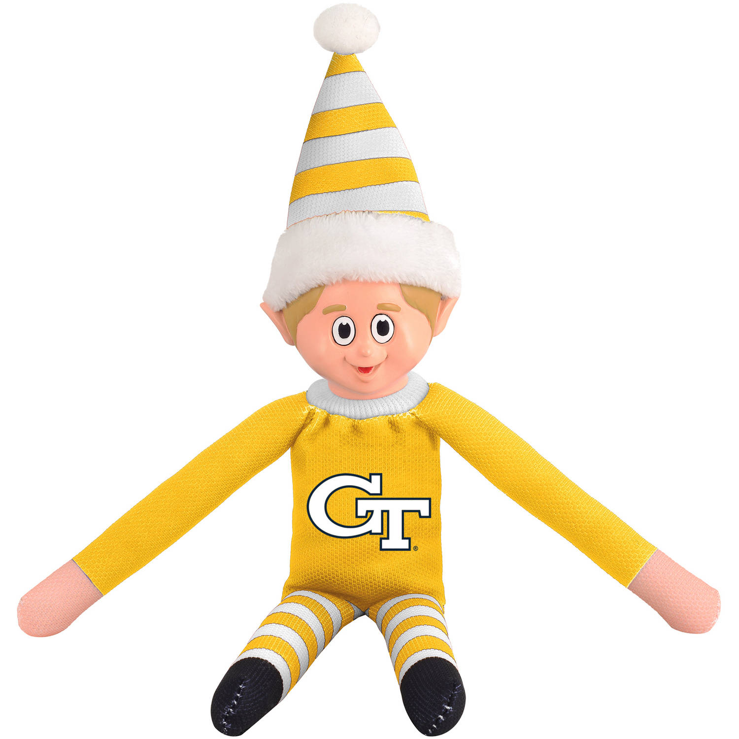 Forever Collectibles NCAA Team Elf, Georgia Tech University Yellow Jackets