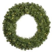 "Vickerman 96"" Grand Teton Artificial Christmas Wreath with 1000 Warm White LED Lights"