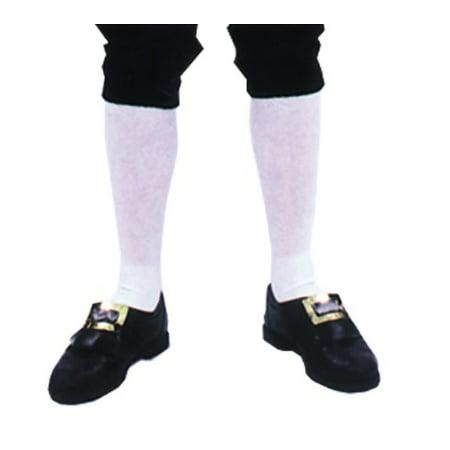 Adult Mens Colonial Knee Length White Socks Halloween Costume - Fantasia Halloween Rj