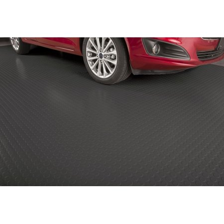 G-Floor 75 Mil Coin 5'x10' Slate Grey Parking Pad Garage Flooring