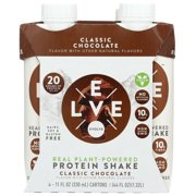 Evolve Classic Chocolate Protein Shake, One Pack Of 4 11 Fluid Oz. Cartons, Pack Of 3