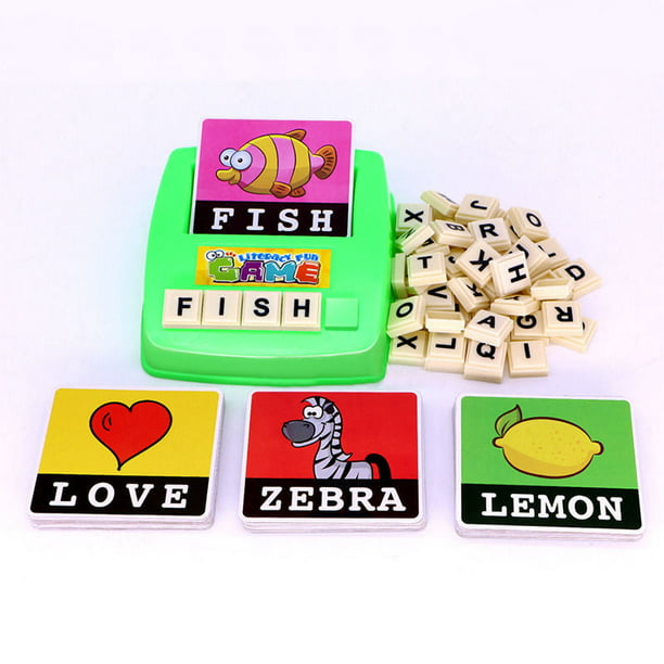 Matching Letter Game, Alphabet Spelling & Reading Words ...