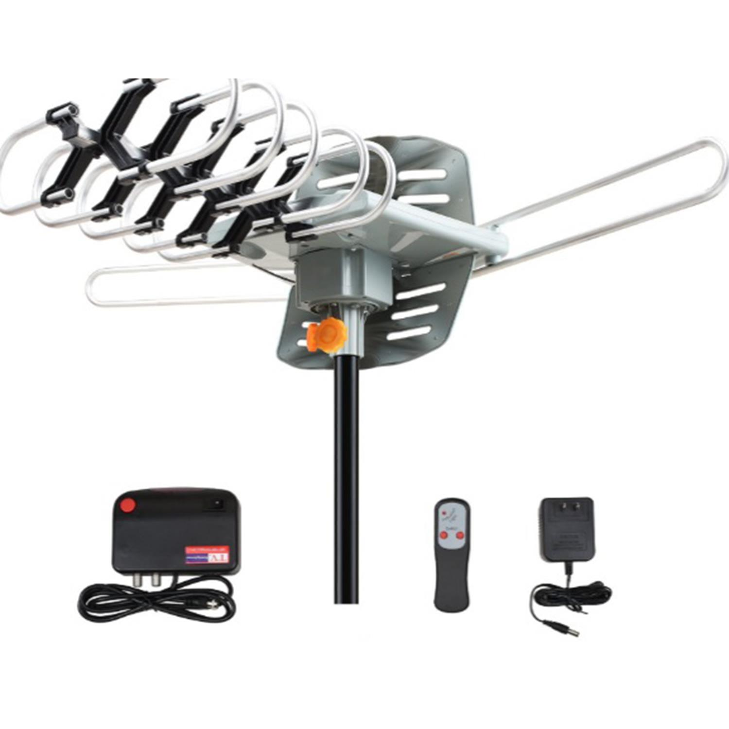 Ktaxon HDTV Antenna Amplified Digital TV Antenna 150 Miles Range 360 Degree Rotation Outdoor