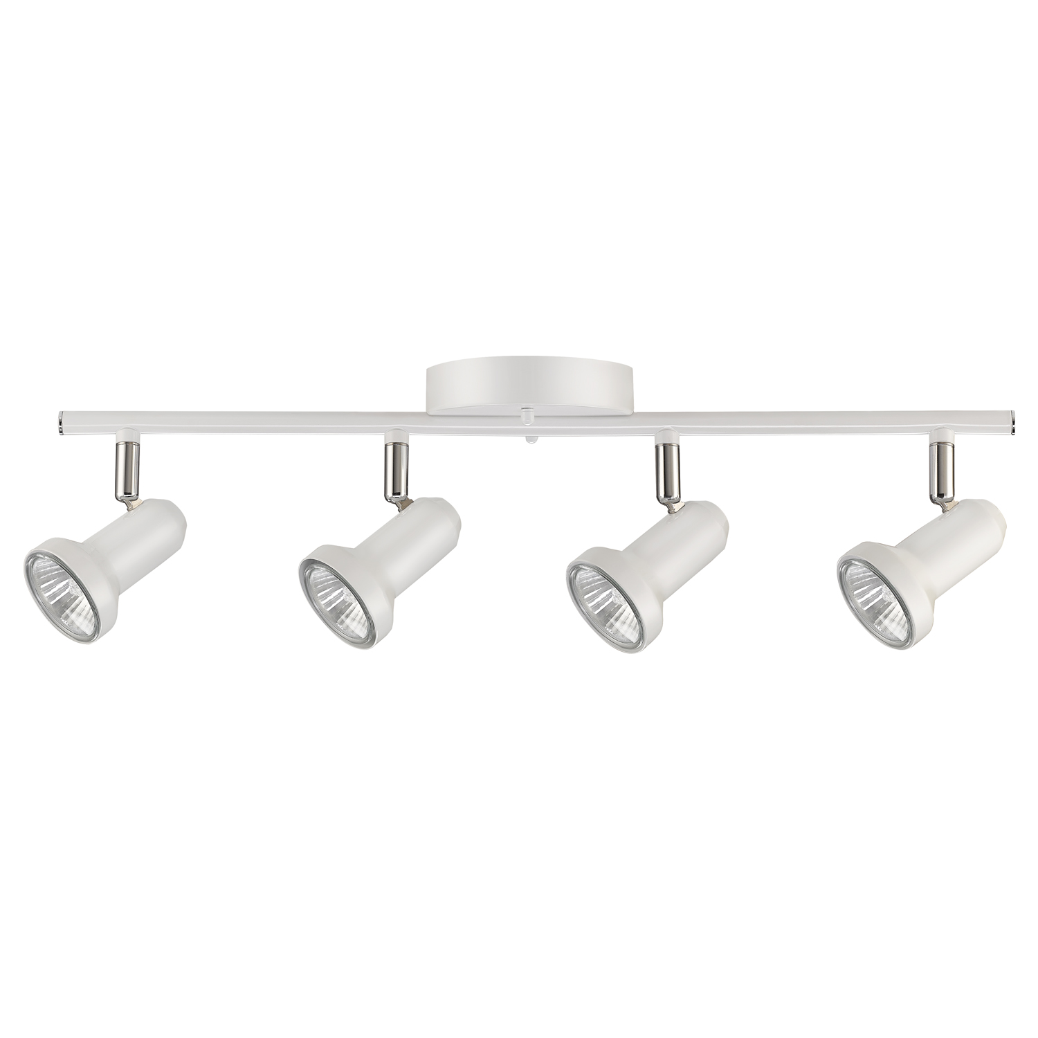 Globe Electric 50 Watt Melo 4-Light Glossy White Track Light, Bulbs Included by Globe Electric