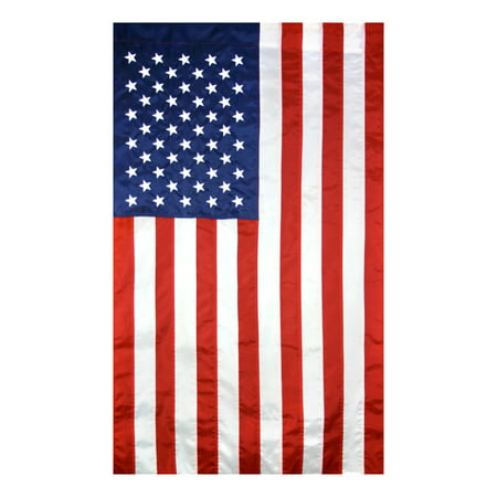 Nylon Dive Flag (American Flag 2 ½ x 4 ft. Nylon SolarGuard Nyl-Glo, Sewn Stripes, Embroidered Stars and Banner-Style Pole)