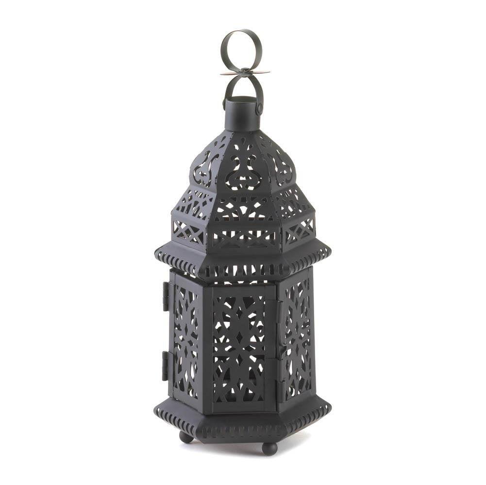 Hanging Lanterns Decorative, Moroccan Metal Floor Patio Portable Outdoor Lanterns