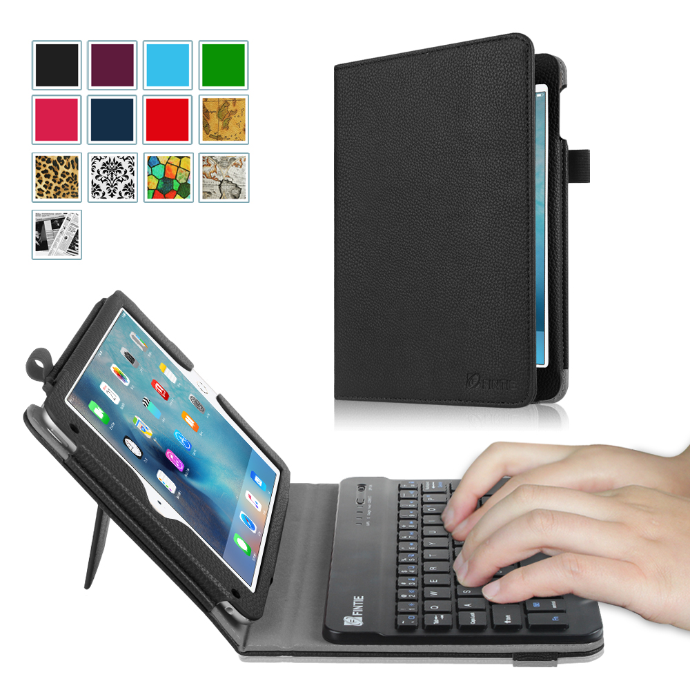Fintie iPad mini 4 2015 Case - Premium PU Leather Folio Stand Cover with Removable Wireless Bluetooth Keyboard, Black