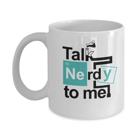 Talk Nerdy To Me Funny Science & Math Geek Gift Mug - Science Cup