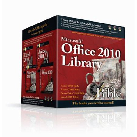 Microsoft Office 2010 Library: Excel 2010 Bible, Access 2010 Bible, PowerPoint 2010 Bible, Word 2010 Bible Deal