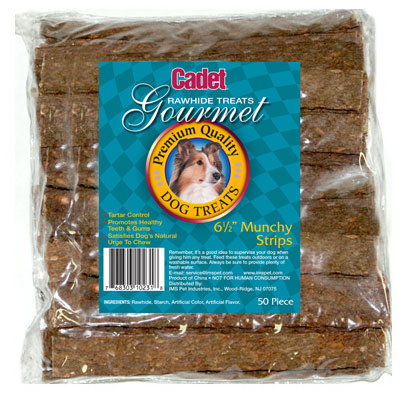Ims Trading 10231 Gourmet Dog Treats, Rawhide Strips, 6-1/2-In., 50-Pk.