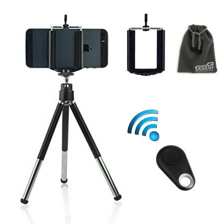 Tripod Mount+Phone Holder+Remote Shutter for iPhone XS XR X 8 7 6 6S Plus Samsung Galaxy S10E S10 S9 S8 S7 S6 Edge(Plus) Note 9 5,EEEKit 3in1 Kit