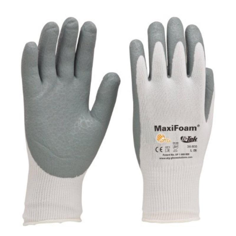 PIP 34-800/L MaxiFoam G-Tek Premium Nitrile Foam Coated Gloves LARGE (12 Pair)