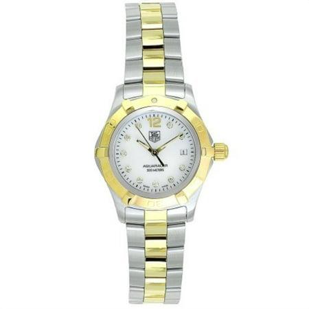 Tag Heuer Women's WAF1425.BB0814 'Aquaracer' Diamond Two-Tone Stainless Steel Watch (Tag Heuer Womens Diamond Watches)
