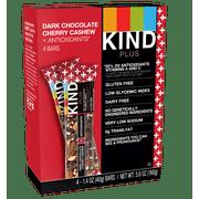 KIND Bars, Dark Chocolate Cherry Cashew + Antioxidants , 4 Bars, Gluten Free