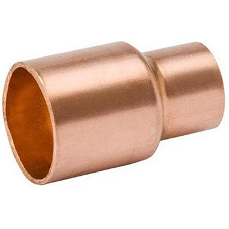 Mueller Industries W 61065 1.5 x 1 in. Reducer Coupling With Stop, Copper x