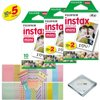 Fujifilm INSTAX Mini Instant Film 5 Pack 50 SHEETS (White) For Fujifilm Mini 8 Cameras Bundled with custom instax FRAME STICKERS and Quality Photo Microfiber Cloth for mini 8 lens 50 fujifilm instax mini 8 instant filmsISO 800 wide picture format integral daylight color film designed for use with Fujifilm instax mini series cameras. This glossy film yields superb results under both daylight and electronic flash conditions. Its improved picture quality and greater ease of use make it ideal for snapshots and portraits. Furthermore, its easy-to-file size makes it an excellent choice for documentary or archival purposes, as well as a wide variety of other applications.