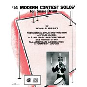 Alfred 14 Modern Contest Solos for Snare Drum Book
