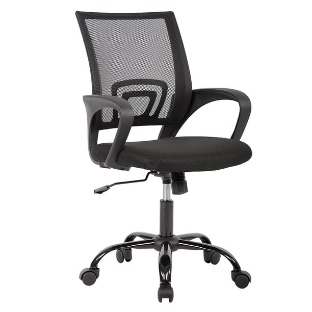 Mid Back Mesh Ergonomic Computer Desk Office Chair Black Walmart Com Walmart Com
