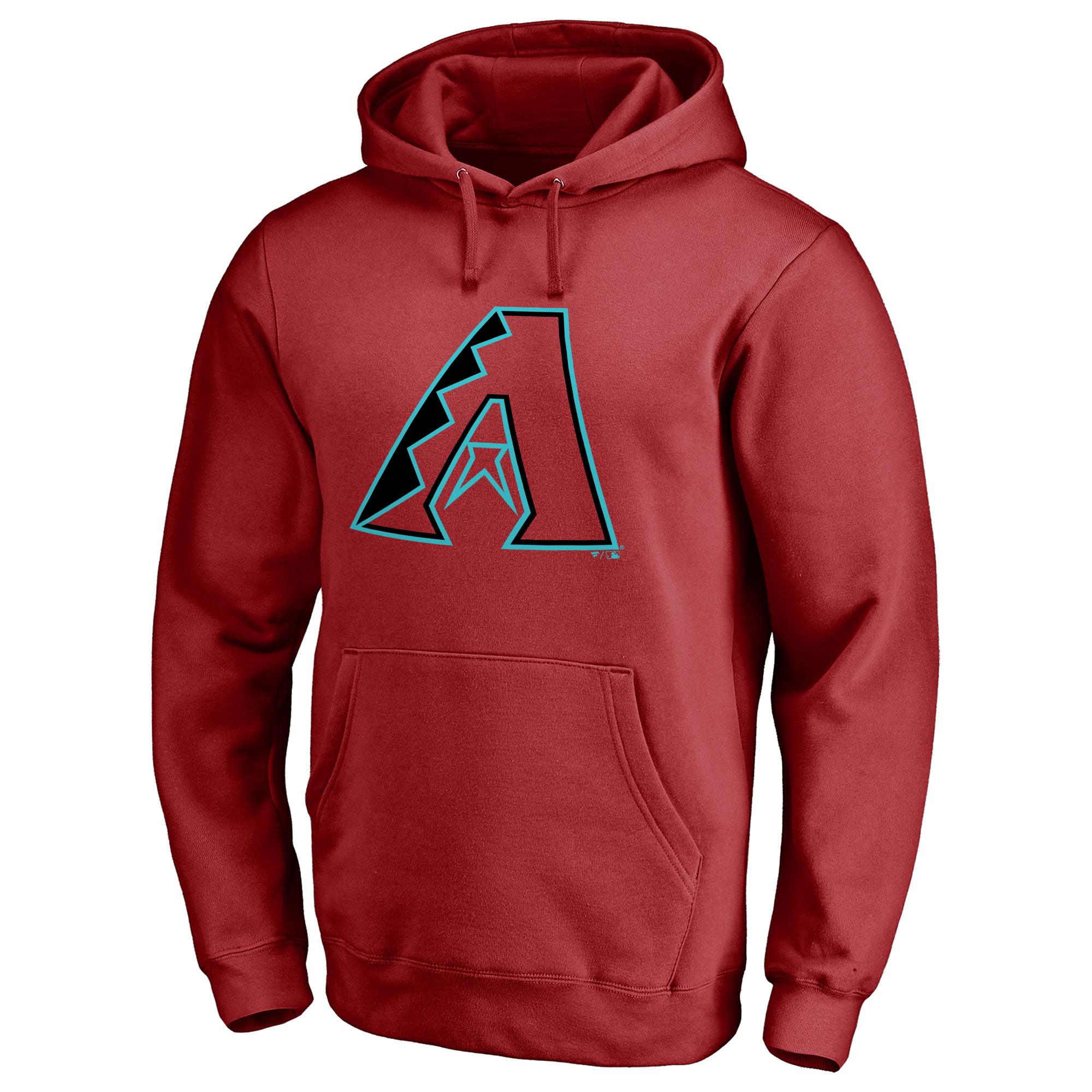 Arizona Diamondbacks Team Color Primary Logo Pullover Hoodie - Red