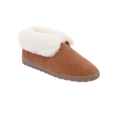 - RJ's Fuzzies Chestnut Leather Booties Slippers (Size 5) RJS 102-5 New