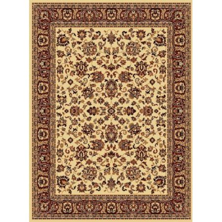 Traditional Area Rug Superior All Over Ivory 4x6