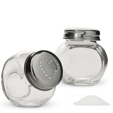 Mini Candy Jar Salt and Pepper Shaker Favor set by Weddingstar