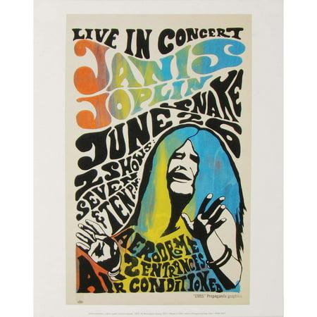 Janis Joplin Concert Promo - Rare 1977 Promo Poster