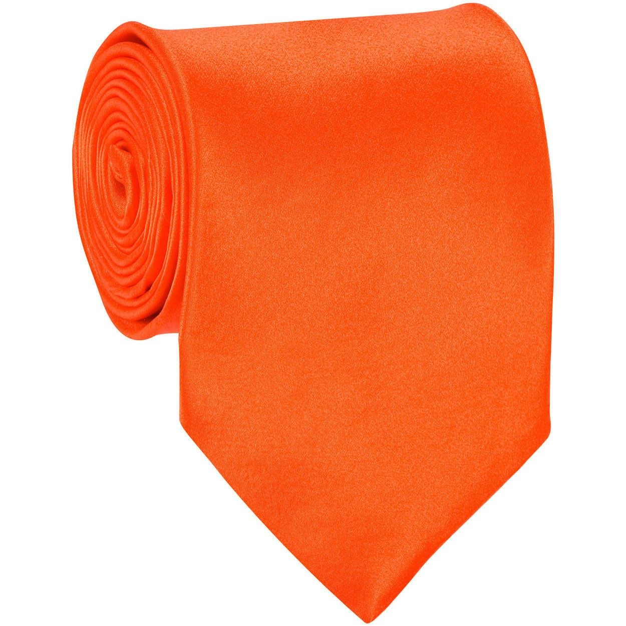 ADF-11 - Mens - Orange - Solid Necktie