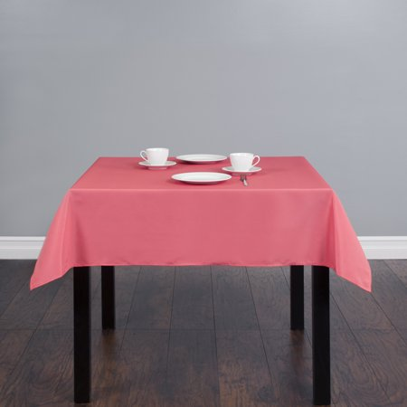 54 in. Square Polyester Tablecloth Coral](Coral Table Cloth)