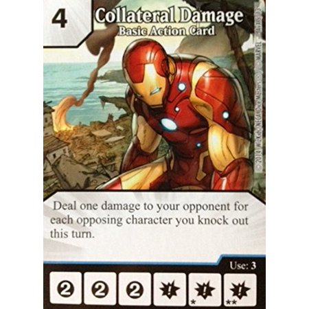 Marvel Promo Card: Collateral Damage Basic Action Game (Iron Man), Marvel Dice Masters Promo Card: Collateral Damage Basic Action Game (Iron Man) By Dice Masters Ship from US](Avengers Cards)