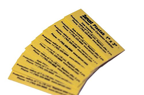 """Firearm Plastabs with Rust Prevention and Protection 1"""" x 3"""" Pack of 10, Great for protecting firearms, ammo... by"""