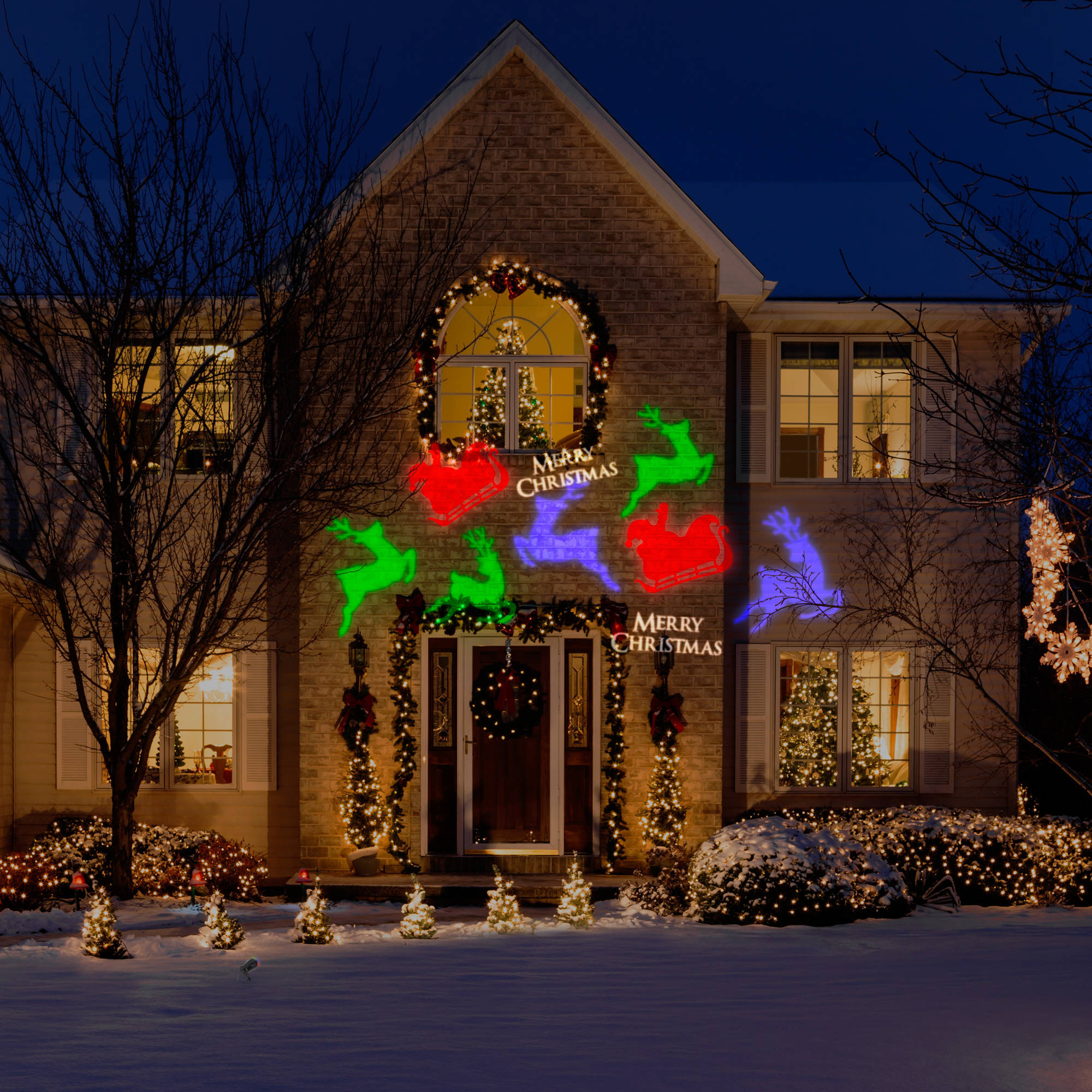 gemmy lightshow projection whirl a motion christmas lights walmartcom