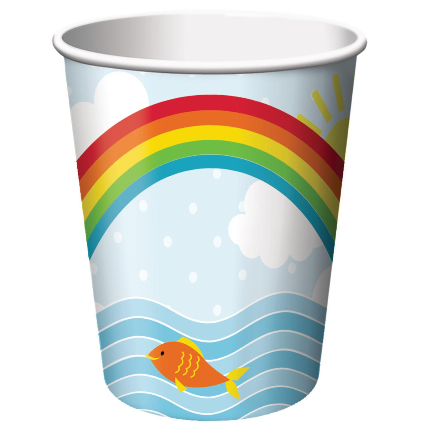 Club Pack of 96 Noah's Ark Disposable Paper Hot and Cold Drinking Party Cups 9oz.