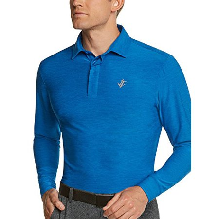 7c9f47d70 Men's Dry Fit Long Sleeve Polo Golf Shirt, Moisture Wicking and UV  Protection - Walmart.com
