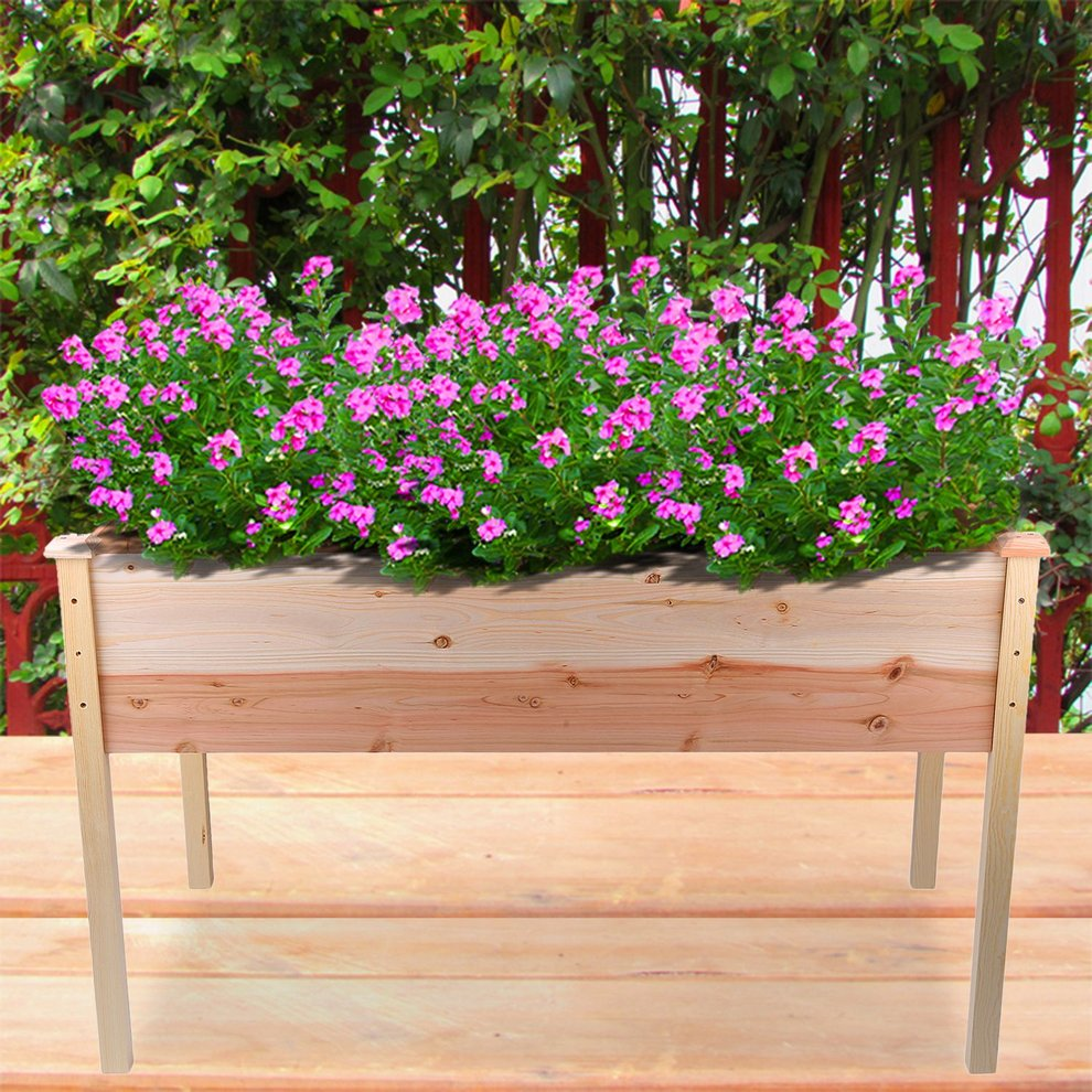 Elevated Flowerpot Vegetable Bed Garden Box Bed Gardening Vertical Planter by Oakeskaran