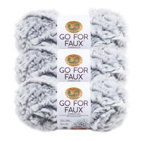 Lion Brand Yarn GO FOR FAUX Chinchilla 3 Pack Novelty