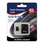 Super Talent MSD8GBST6R(SZ) 8gb Micro Sdhc Memory Card W/ Adapter