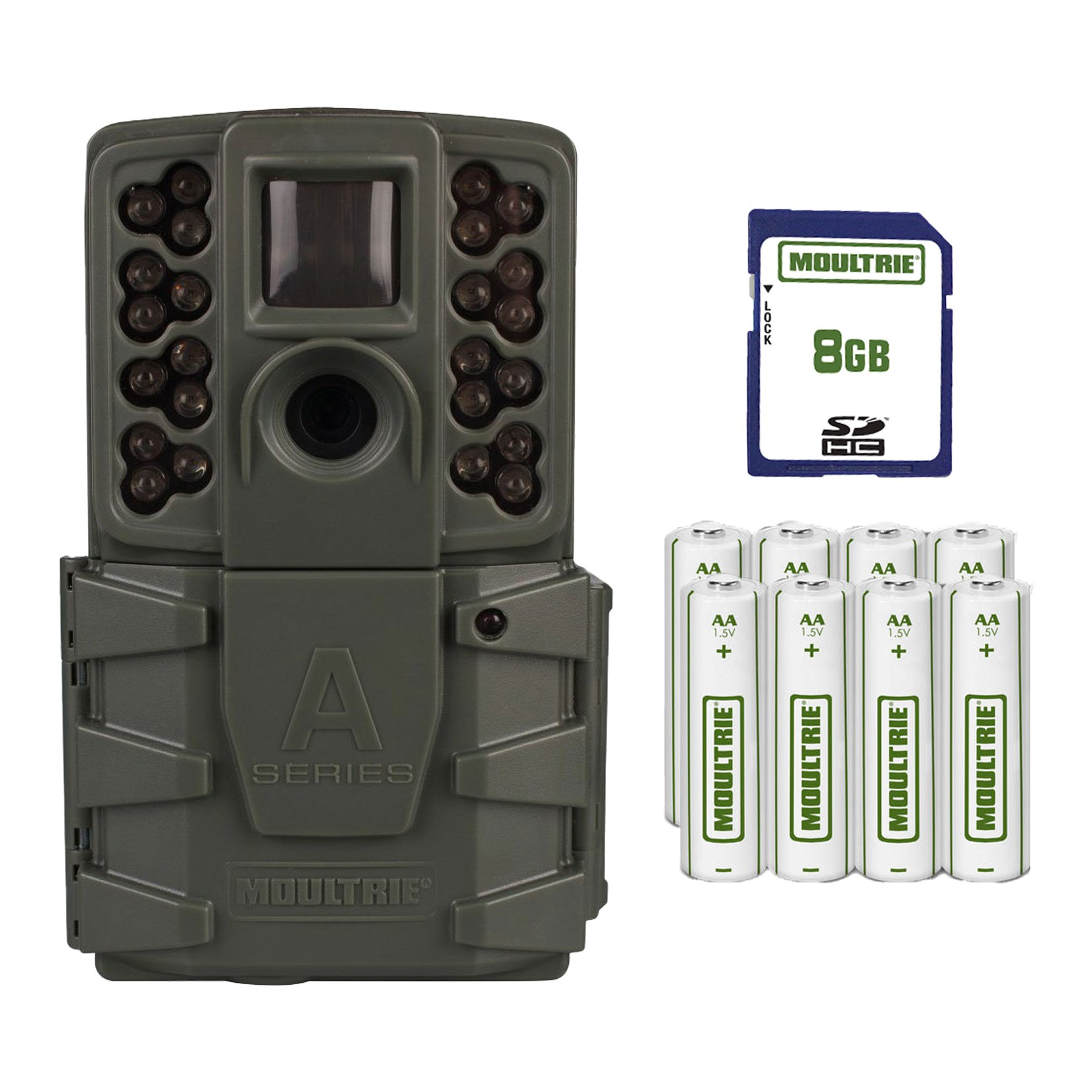 Moultrie A-25 Trail Camera Kit James River Archery w/ SD Card + Batteries