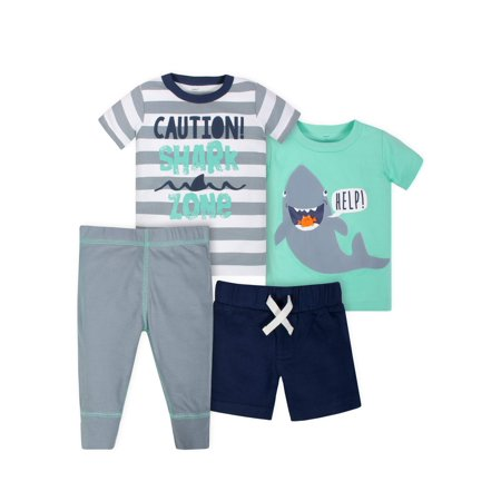 Gerber Graduates Shirts, Short and Pant Mix N Match Outfit Sets, 4pc (Toddler - Mib Outfit