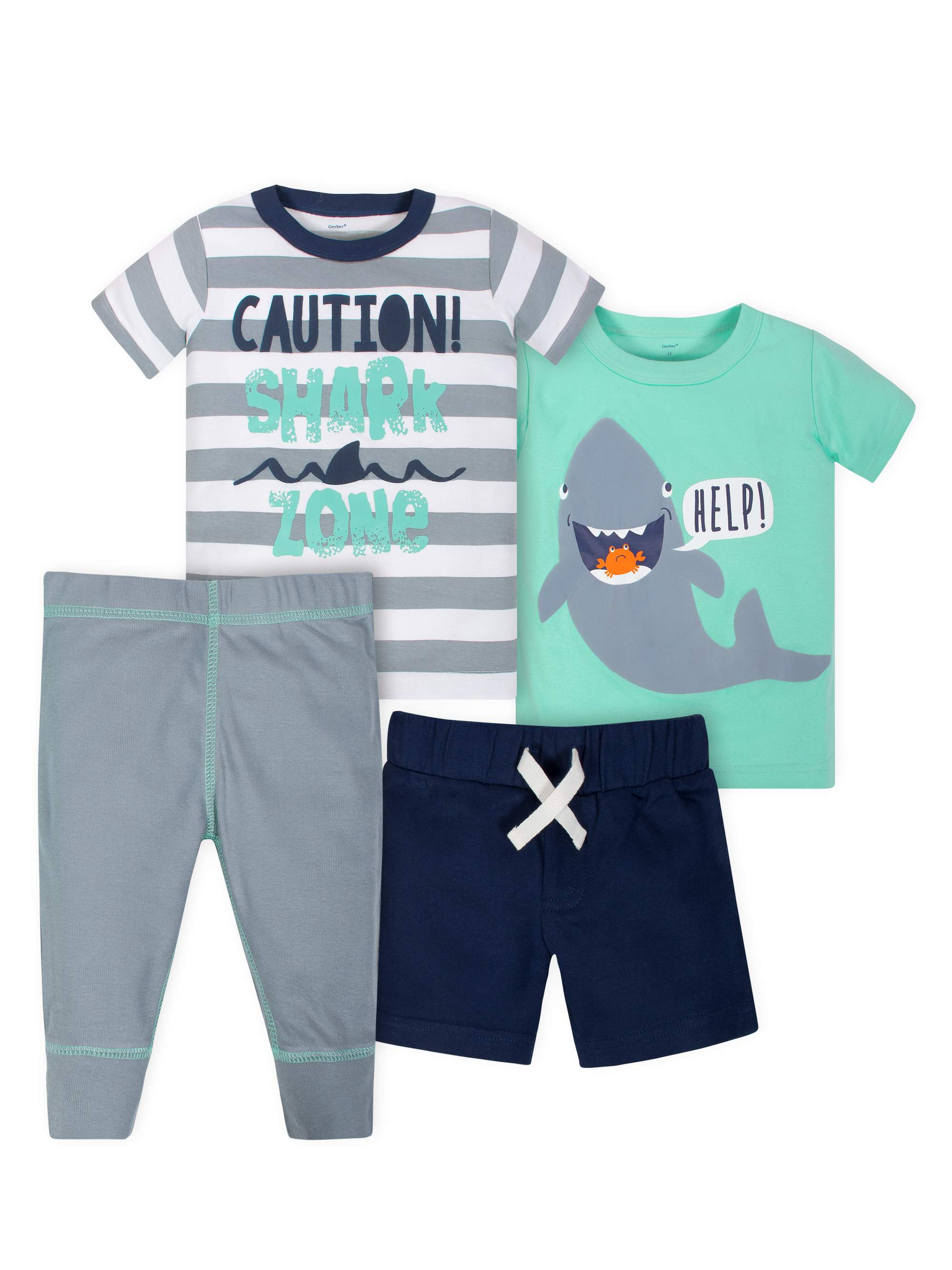 Shirts, Short and Pant Mix N Match Outfit Sets, 4pc (Toddler Boys)