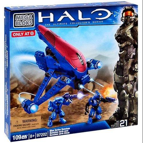 Mega Bloks Halo The Ultimate Collector's Series Blue Series Banshee Set #97202 by