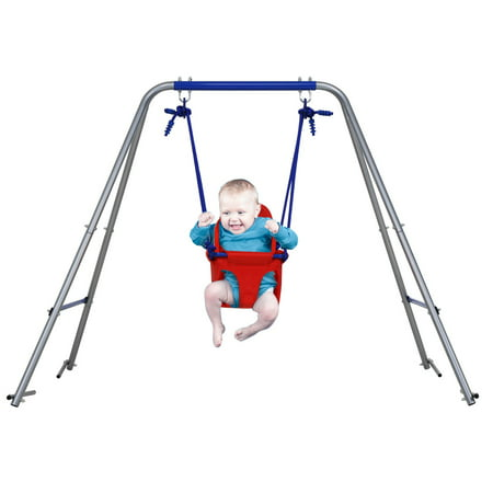 4.FT High Toddler Baby Swing Seat with Frame for 1 to