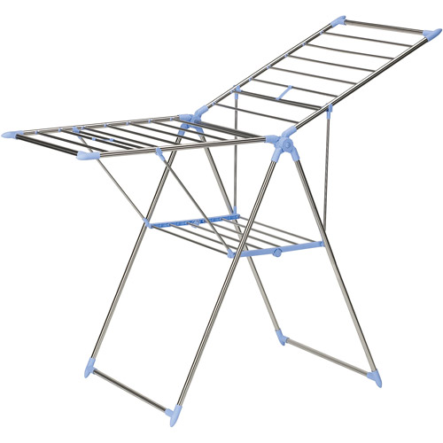 household essentials stainless steel clad adjustible style gullwing drying rack with 44u0027 drying space