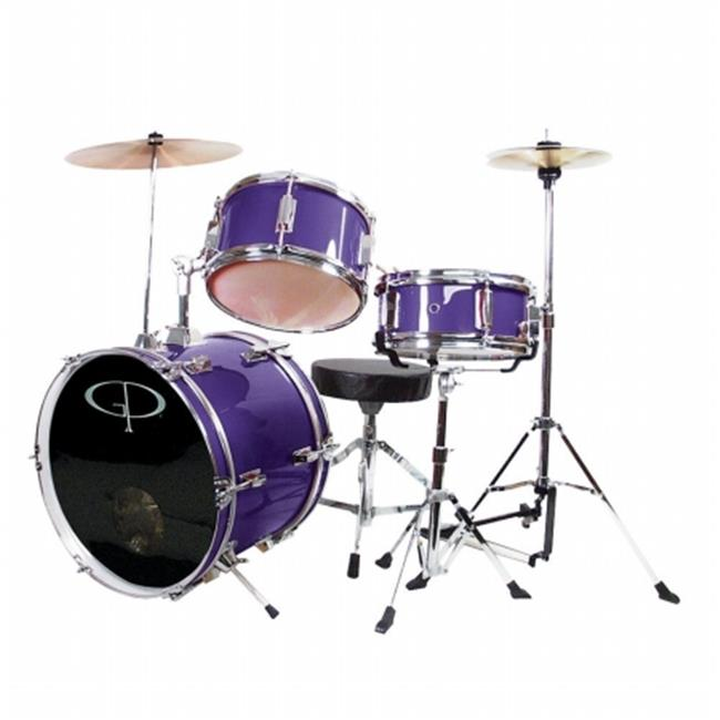 Gp 3 Pc Deluxe Jr Drumset Metal Purple - GP50MPR
