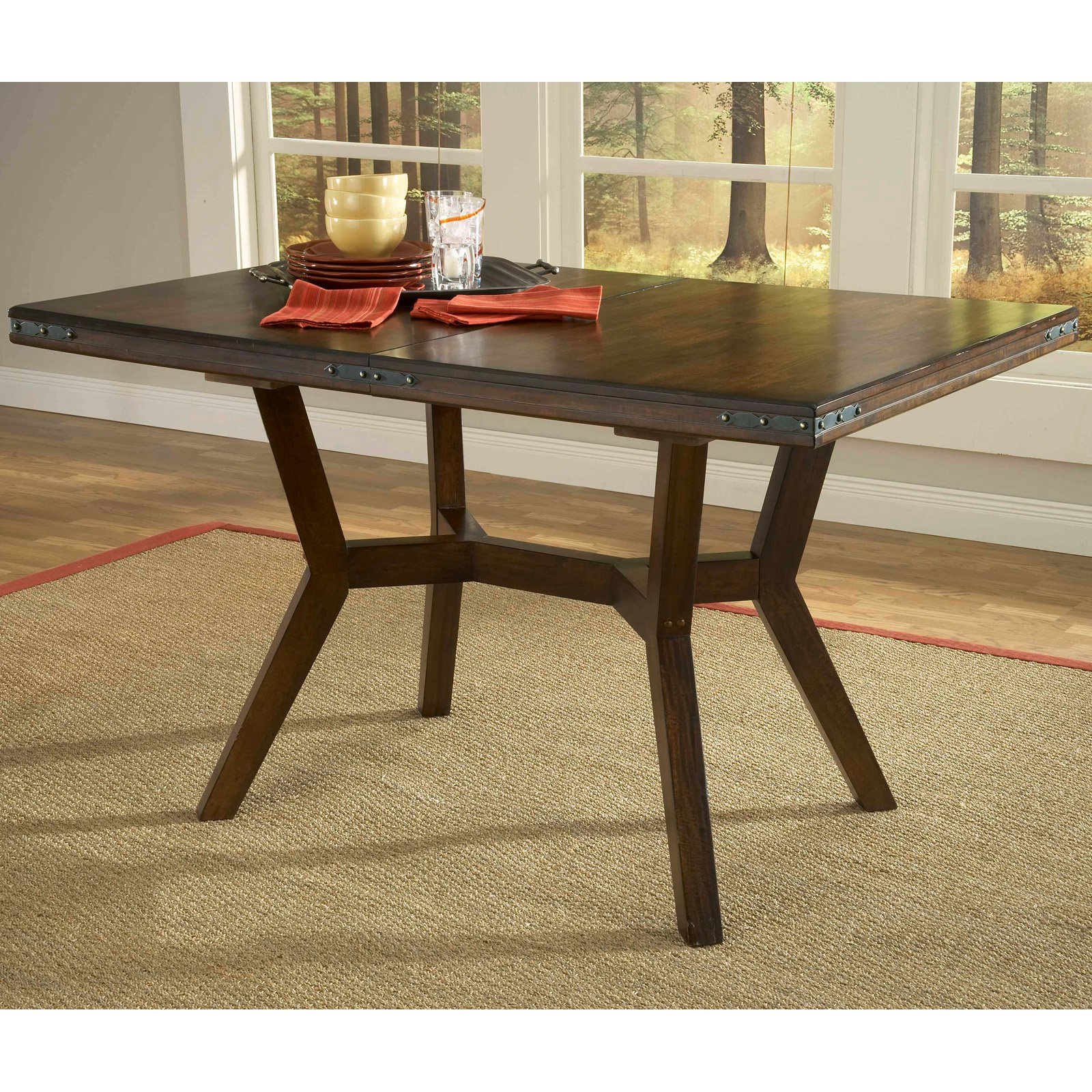 Hillsdale Arbor Hill Extension Dining Table Walmart