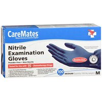 CareMates Nitrile Powder Free Examination Gloves, Medium, 100 Count