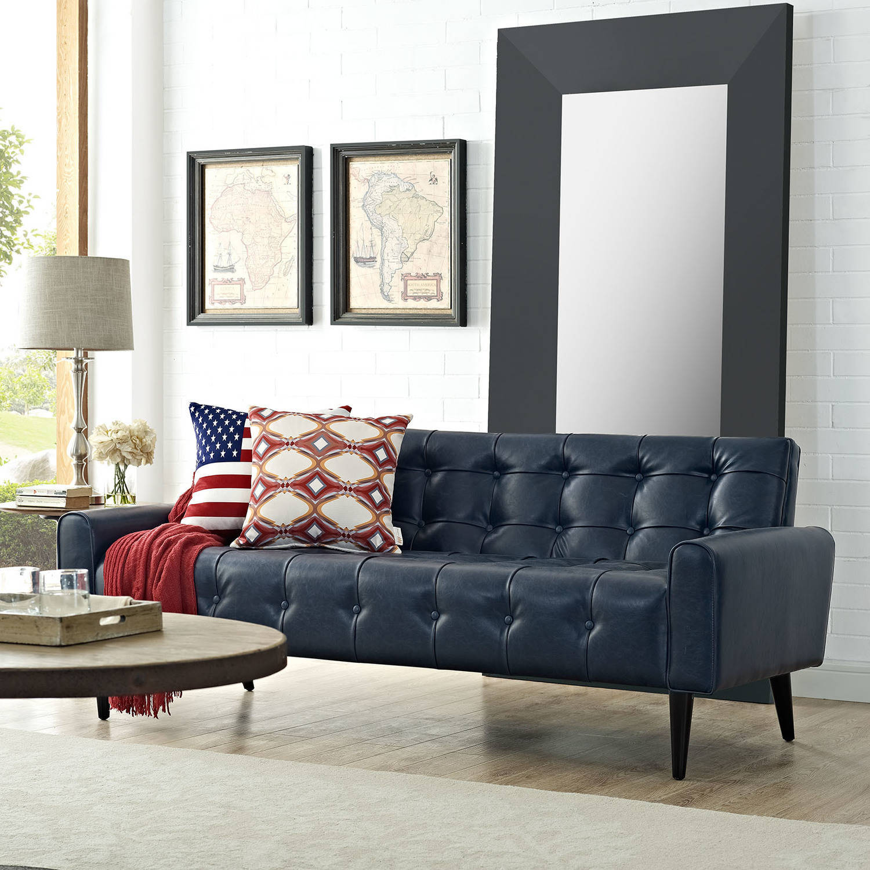 Modway Delve Leatherette Tufted Sofa, Multiple Colors