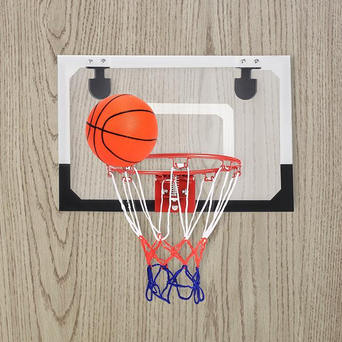 Athletic Works Indoor Mini Basketball System Wall Mount Over The Door with Ball Pump Hoop