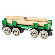 BRIO World - 33696 Lumber Loading Wagon   4 Piece Train Toy for Kids Ages 3 and Up