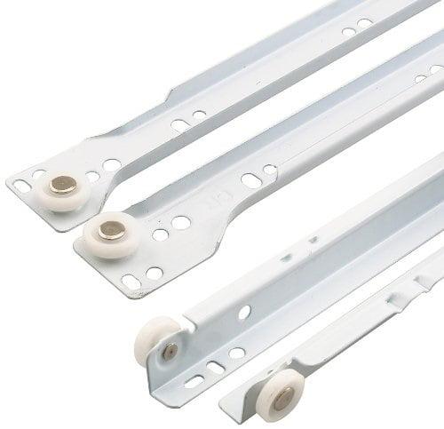 prime-line products r 7212 drawer slide kit, 19-3/4 in., steel tracks, white powder coat